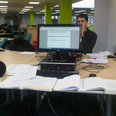 Photo taken at Northumbria University Library by Jacob A. on 12/30/2012