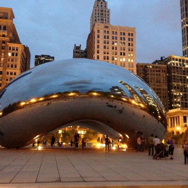 Photo taken at Cloud Gate by Anish Kapoor by Julio B. on 5/23/2013