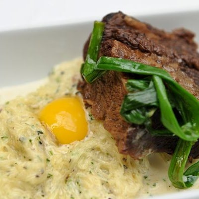 We highly recommend the Braised Beef Short Rib, Spaghetti Squash Carbonara and Bantam Egg while here.