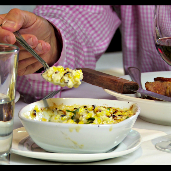 The Charred Jalapeno Creamed Corn is simply a show stopper at a Kevin Rathbun restaurant. Revel in its yumminess and put it on your plate next to any steak on the table.
