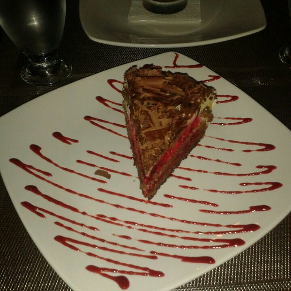 Great atmosphere, service and desserts.