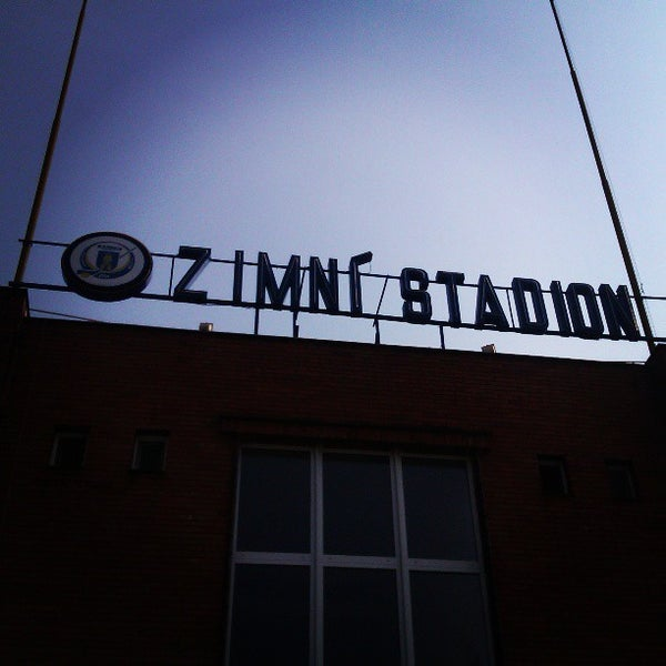 Photo taken at Zimní stadion Luďka Čajky by Petr Ž. on 4/21/2013