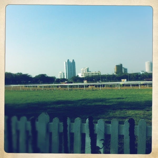 Photo taken at Mahalaxmi Race Course (Royal Western India Turf Club) by Saunak G. on 1/20/2013