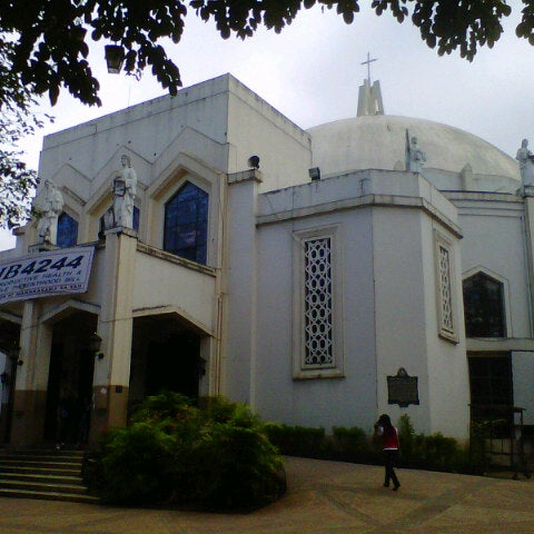 Photo taken at National Shrine of Our Lady of Peace and Good Voyage (Antipolo Cathedral) by Herb S. on 11/5/2012