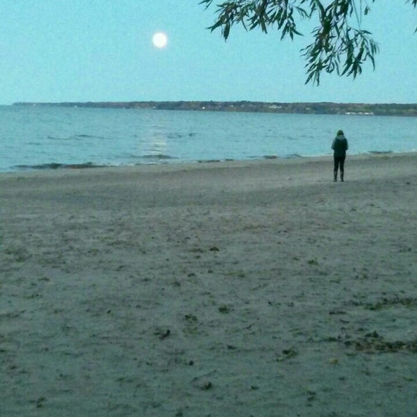 Photo taken at Durand Eastman Beach by Mike J. on 10/26/2015