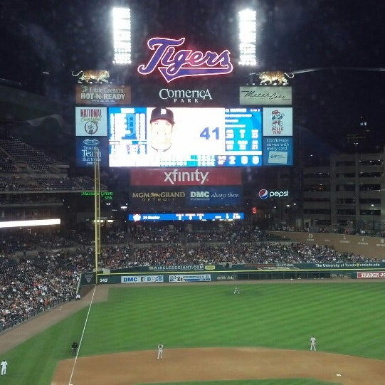 Photo taken at Comerica Park by Leroy J. on 6/19/2013