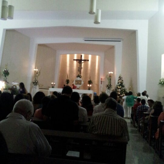 Photo taken at Paróquia Santa Mônica by Mauricio Y. on 12/24/2012