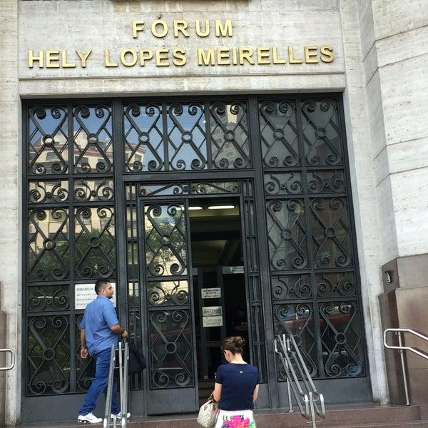 Photo taken at Fórum Hely Lopes Meirelles by Katherine G. on 4/1/2016