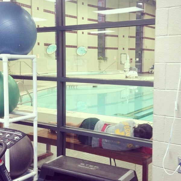 Photo taken at Aquatic and Fitness Center - George Mason University by Laura M. on 7/15/2014
