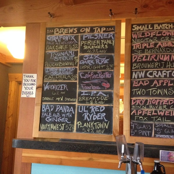 Great selection of Oregon craft on tap, Kombucha on tap, house made salads, fermented veggies, fresh produce local dairy & meats plus gardening stuff. Eclectic mix but awesome and a must stop.