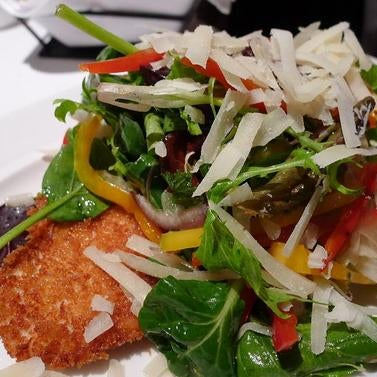 The chicken milanesa here is like none other. The chicken cutlet so delicately crumbed and perfectly fried, with a salad on top and salty notes from pecorino, it can't be beat.