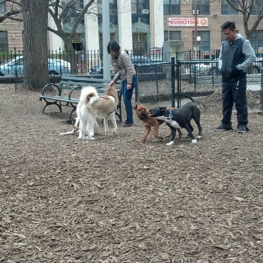 Photo taken at Marcus Garvey Park - Dog Run by Morgan F. on 4/23/2014