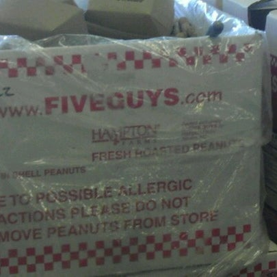 Photo taken at Five Guys by Priscilla O. on 11/2/2012