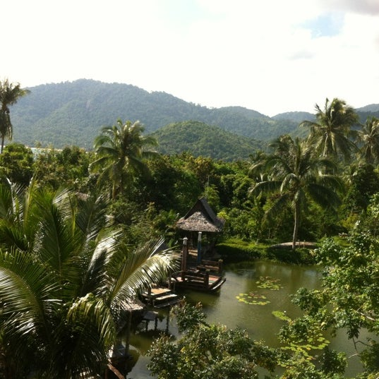 Photo taken at Santhiya Resort And Spa Koh Phangan by Marce on 12/6/2012