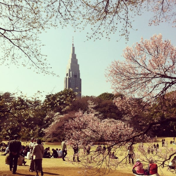 Photo taken at Shinjuku Gyoen by Asry on 3/22/2013