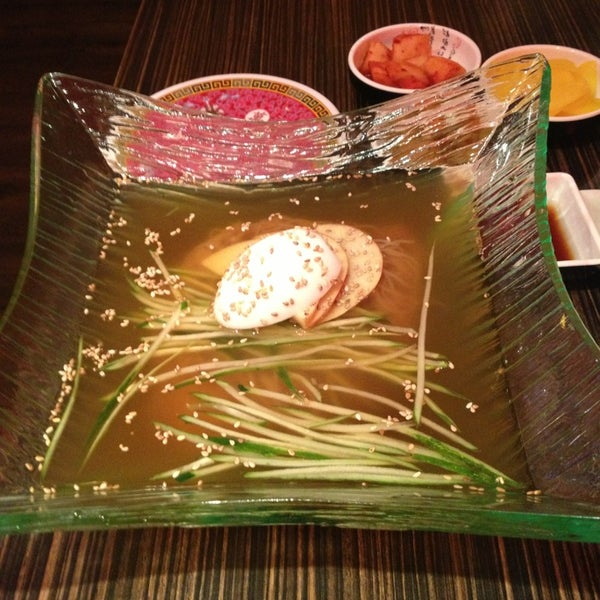 Mul naeng myun was kind if a downer. It didn't have the beef or jellyfish as mentioned in the menu.