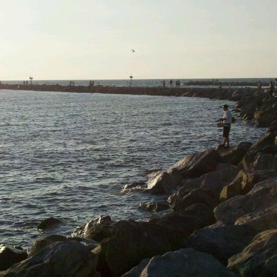 Photo taken at South Jetty / Humphris Park by John on 10/16/2012