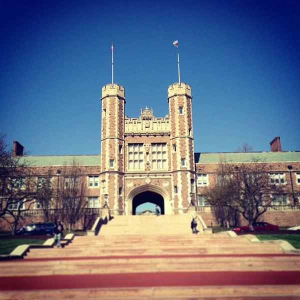 Photo taken at Washington University by Nick T. on 4/5/2013
