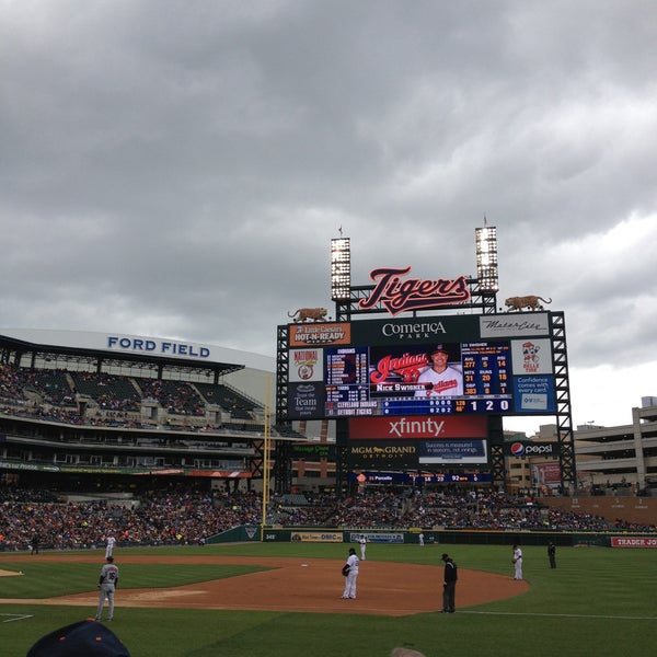 Photo taken at Comerica Park by Katie M. on 5/12/2013