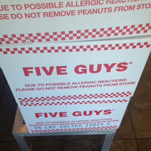 Photo taken at Five Guys by Eric S. on 2/5/2013