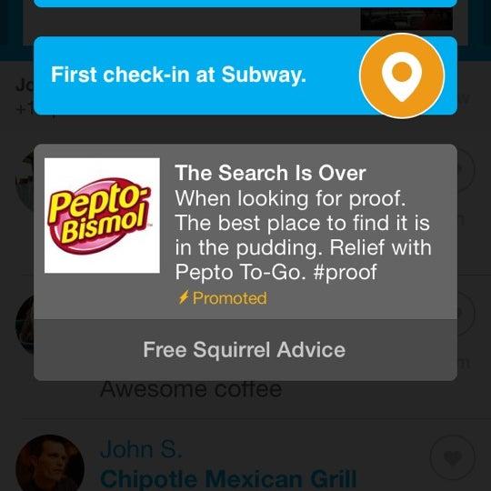 Photo taken at Subway by Jon P. on 12/19/2013