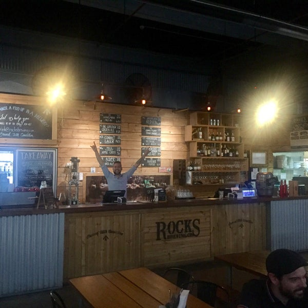 Photo taken at Rocks Brewing Co by Simplicious C. on 3/9/2017
