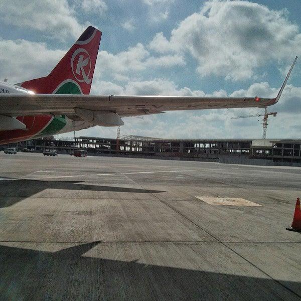 Photo taken at Jomo Kenyatta International Airport (NBO) by mentalacrobatics on 5/26/2013
