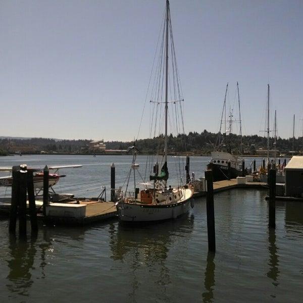 Photo taken at Coos Bay Boardwalk by Brad S. on 8/6/2014