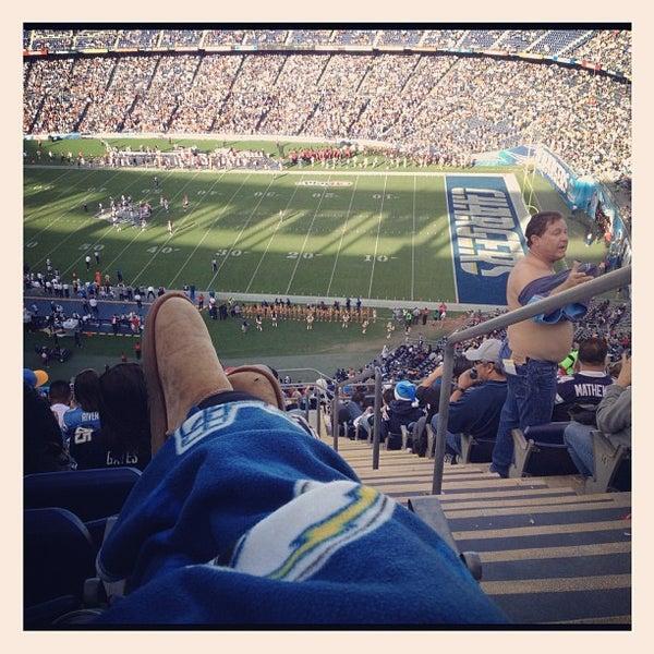 Photo taken at Qualcomm Stadium by Cassie D. on 12/3/2012