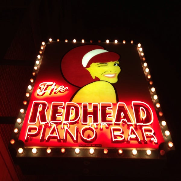 Redhead and piano bar and chicago