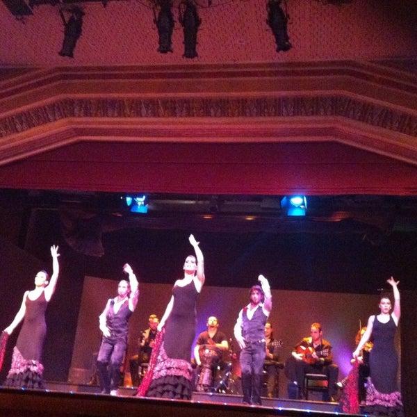 Photo taken at Palacio del Flamenco by İrem U. on 1/29/2013