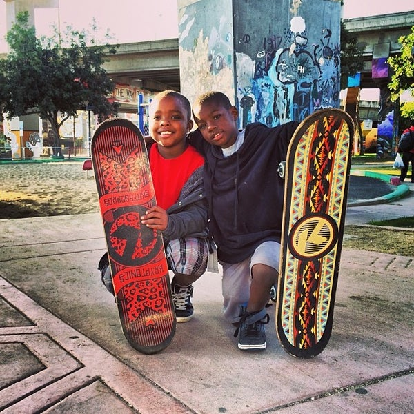 Photo taken at Chicano Park by Madison L. on 1/12/2014