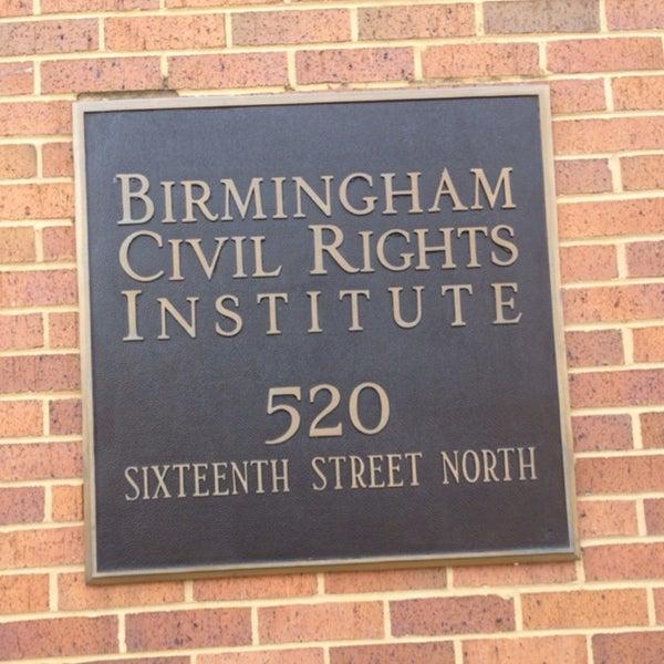 Photo taken at Birmingham Civil Rights Institute by Razan AlFadhel. on 3/21/2014