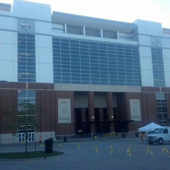 Photo taken at Kinnick Stadium by Jay T. on 9/15/2012