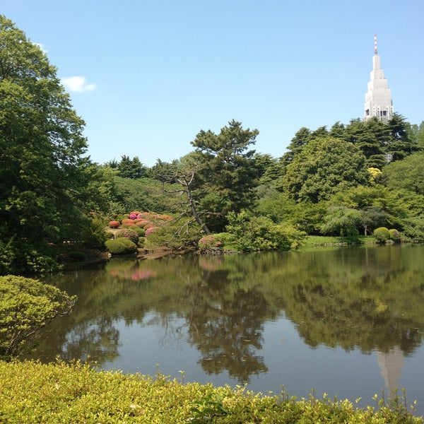Photo taken at Shinjuku Gyoen by Kiyokazu O. on 5/4/2013