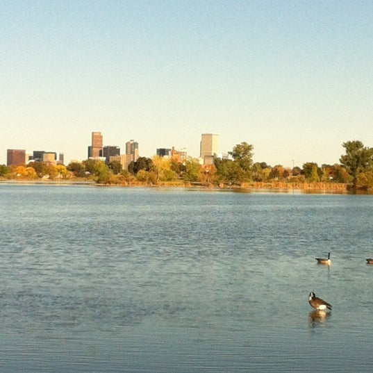 Photo taken at Sloan's Lake Park by Kelly B. on 10/2/2012
