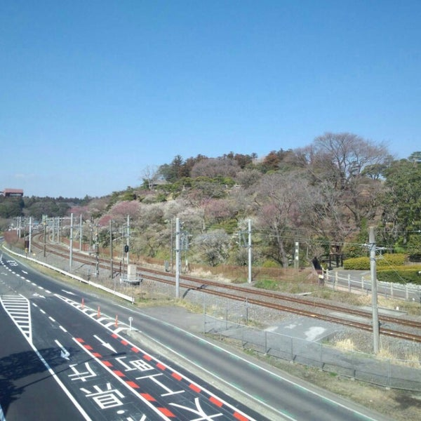 Photo taken at 偕楽橋 by Spica on 3/15/2013