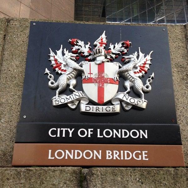 Photo taken at London Bridge by Damon D. on 1/8/2013