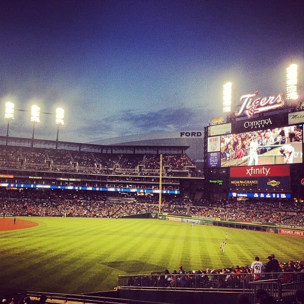 Photo taken at Comerica Park by Manny L. on 5/15/2013