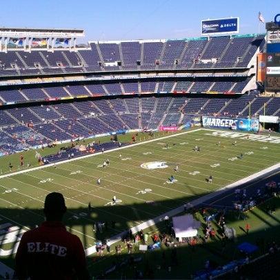 Photo taken at Qualcomm Stadium by Paul S. on 10/15/2012