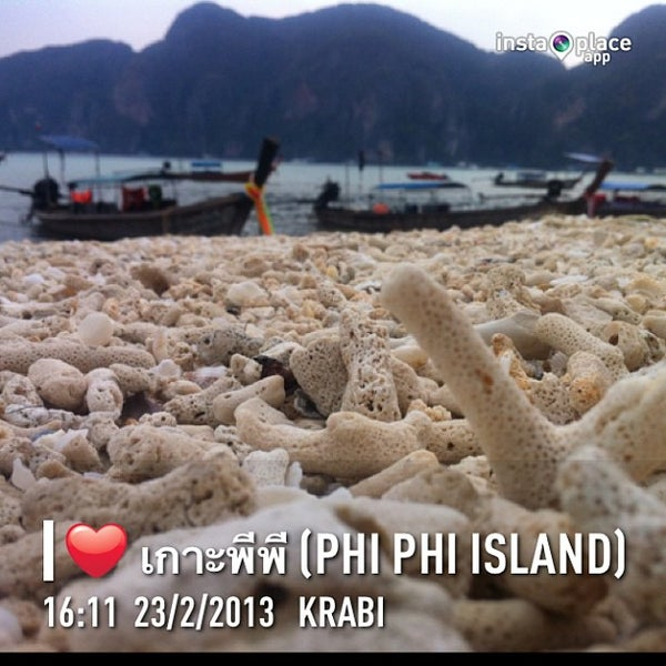 Photo taken at Phi Phi Island by Knotto T. on 2/23/2013
