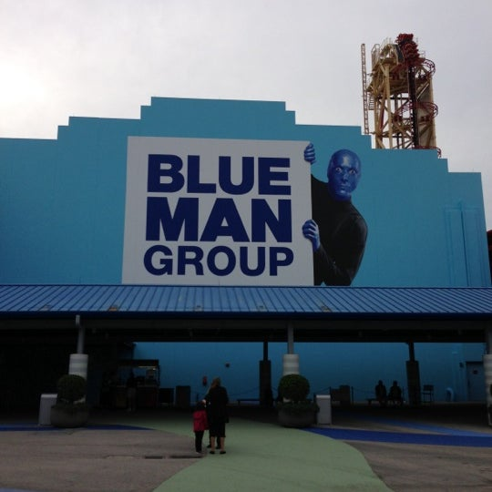 Photo taken at Blue Man Group at Universal CityWalk by Gerald H. on 10/27/2012