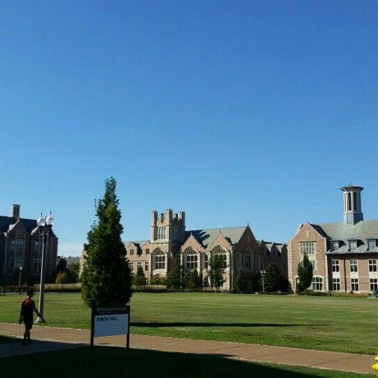 Photo taken at Washington University by Scott G. on 9/25/2015