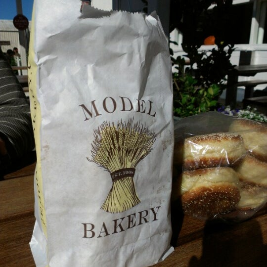 Photo taken at Model Bakery by jody on 11/10/2012