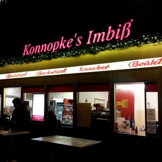 Photo taken at Konnopke's Imbiß by Alexandra F. on 12/22/2012