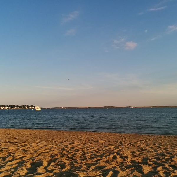 Photo taken at Constitution Beach by Kavitha R. on 8/27/2016