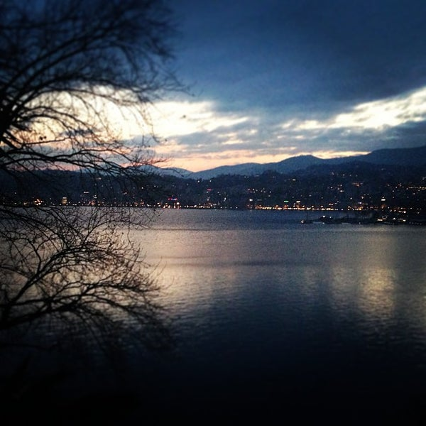 Photo taken at Lago di Lugano by Hak P. on 3/29/2013