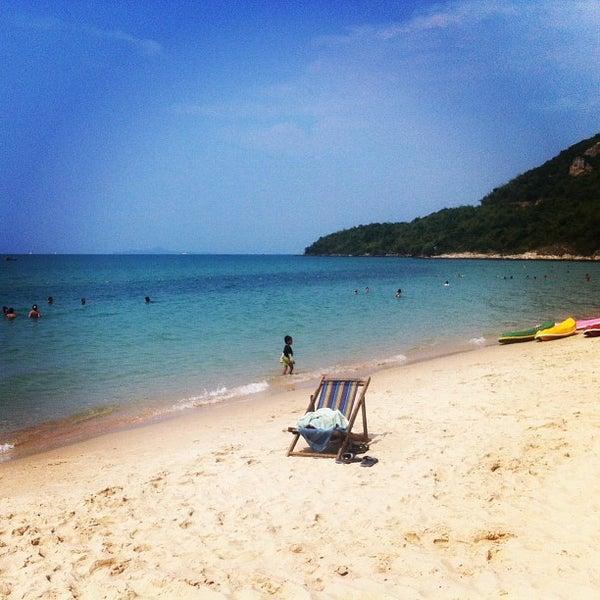 Photo taken at Sai Keaw Beach by Тайское К. on 2/9/2013