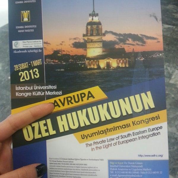 2/28/2013 tarihinde Gizem B.ziyaretçi tarafından İstanbul Üniversitesi Kongre Kültür Merkezi'de çekilen fotoğraf
