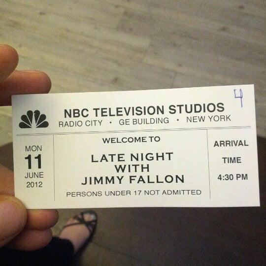 Foto tirada no(a) Late Night with Jimmy Fallon por Jeffrey R. em 6/11/2012